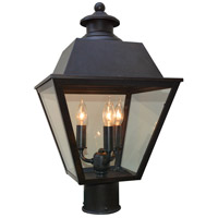 Arroyo Craftsman INP-10MRCLR-BZ Inverness 3 Light 16 inch Bronze Post Mount in Clear