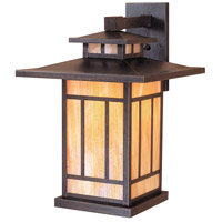 Arroyo Craftsman KB-12GW-BZ Kennebec 1 Light 12 inch Bronze Wall Mount Wall Light in Gold White Iridescent