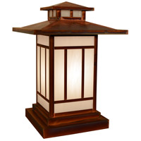 Arroyo Craftsman KC-12WO-RC Kennebec 1 Light 17 inch Raw Copper Column Mount in White Opalescent