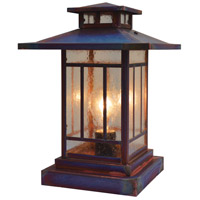 Arroyo Craftsman KC-9CS-RC Kennebec 1 Light 12 inch Raw Copper Column Mount in Clear Seedy