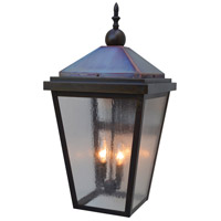 Arroyo Craftsman LAB-12CS-BZ/RC Lancaster 2 Light 25 inch Bronze with Raw Copper Accents Outdoor Wall Mount in Clear Seedy
