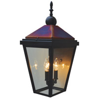 Arroyo Craftsman LAB-9CLR-BZ/RC Lancaster 2 Light 21 inch Bronze with Raw Copper Accents Outdoor Wall Mount in Clear