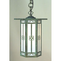 Arroyo Craftsman LIH-9F-BK Lily 1 Light 9 inch Satin Black Pendant Ceiling Light in Frosted photo thumbnail