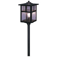 Arroyo Craftsman LV12-M5TCS-BK Mission 18 watt Satin Black Landscape Light in Clear Seedy