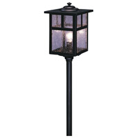 Arroyo Craftsman LV18-M5TCS-BK Mission 18 watt Satin Black Landscape Light in Clear Seedy