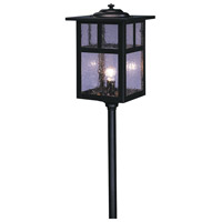 Arroyo Craftsman LV18-M6TCS-BK Mission 18 watt Satin Black Landscape Light in Clear Seedy