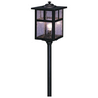Arroyo Craftsman LV24-M5TCS-BK Mission 18 watt Satin Black Landscape Light in Clear Seedy