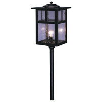 Arroyo Craftsman LV24-M6TCS-BK Mission 18 watt Satin Black Landscape Light in Clear Seedy