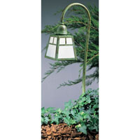 A-Line 18 watt Verdigris Patina Landscape Light in White Opalescent
