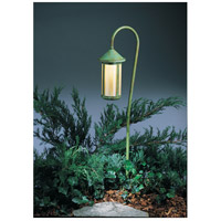 Berkeley 18 watt Verdigris Patina Landscape Light in Gold White Iridescent
