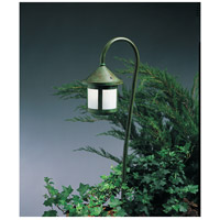 Arroyo Craftsman LV27-B6SWO-VP Berkeley 18 watt Verdigris Patina Landscape Light in White Opalescent
