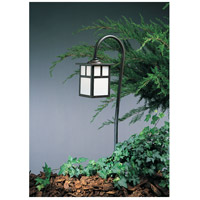 Arroyo Craftsman LV27-M5TWO-BZ Mission 18 watt Bronze Landscape Light in White Opalescent, T-Bar Overlay