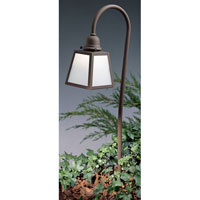 Arroyo Craftsman LV36-AEWO-RB A-Line 18 watt Rustic Brown Landscape Light in White Opalescent photo thumbnail