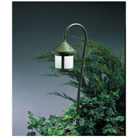 Berkeley 18 watt Verdigris Patina Landscape Light in White Opalescent