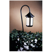 Berkeley 18 watt Satin Black Landscape Light in White Opalescent