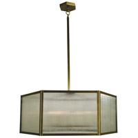 Arroyo Craftsman LYCH-26AE-AB Lyon 4 Light 26 inch Antique Brass Chandelier Ceiling Light
