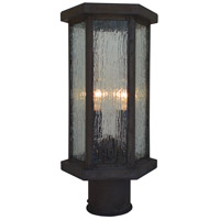 Arroyo Craftsman LYP-7RM-MB Lyon 2 Light 12 inch Mission Brown Outdoor Post Mount