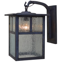 Arroyo Craftsman MB-10TRM-MB Mission 1 Light 16 inch Mission Brown Outdoor Wall Mount in Rain Mist