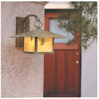 Arroyo Craftsman MB-17PFGW-VP Monterey 1 Light 17 inch Verdigris Patina Wall Mount Wall Light in Gold White Iridescent