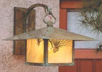Arroyo Craftsman Monterey 1 Light Outdoor Wall Mount in Verdigris Patina MB-17PFGW-VP
