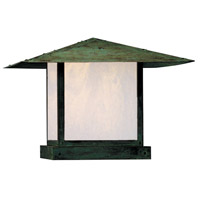 Arroyo Craftsman MC-20EWO-VP Monterey 1 Light 16 inch Verdigris Patina Column Mount in White Opalescent