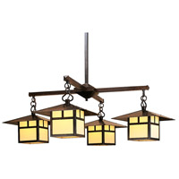 Arroyo Craftsman MCH-12/4TCR-BZ Monterey 4 Light 41 inch Bronze Chandelier Ceiling Light in Cream