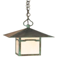 Arroyo Craftsman MH-12CLOF-VP Monterey 1 Light 12 inch Verdigris Patina Pendant Ceiling Light in Off White