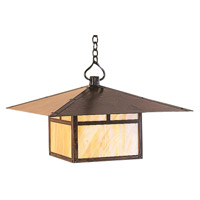 Arroyo Craftsman MH-24TGW-BZ Monterey 1 Light 24 inch Bronze Pendant Ceiling Light in Gold White Iridescent