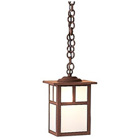 Arroyo Craftsman MH-6TF-RB Mission 1 Light 6 inch Rustic Brown Pendant Ceiling Light in Frosted