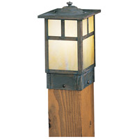 Arroyo Craftsman MPC-5TGW-MB Mission 60 watt Mission Brown Landscape Light in Gold White Iridescent