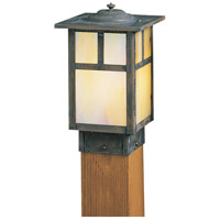 Arroyo Craftsman MPC-6TGW-MB Mission 60 watt Mission Brown Landscape Light in Gold White Iridescent