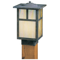 Arroyo Craftsman MPC-7TGW-MB Mission 60 watt Mission Brown Landscape Light in Gold White Iridescent