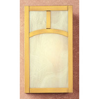 Arroyo Craftsman MS-12AGW-RB Mission 1 Light 7 inch Rustic Brown Wall Mount Wall Light in Gold White Iridescent