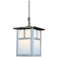 Arroyo Craftsman MSH-10TWO-P Mission 1 Light 10 inch Pewter Pendant Ceiling Light in White Opalescent