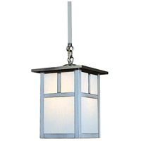 Arroyo Craftsman MSH-7TWO-P Mission 1 Light 7 inch Pewter Pendant Ceiling Light in White Opalescent