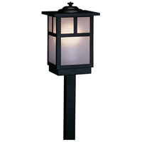 Arroyo Craftsman MSP-5TF-BK Mission 60 watt Satin Black Landscape Light in Frosted