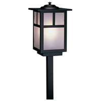 Arroyo Craftsman MSP-6TF-BK Mission 60 watt Satin Black Landscape Light in Frosted