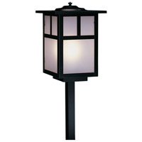 Arroyo Craftsman MSP-7TF-BK Mission 60 watt Satin Black Landscape Light in Frosted