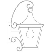 Nantes 1 Light 16 inch Slate Outdoor Wall Mount in Clear Seedy