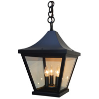 Arroyo Craftsman NAH-10CLR-BK Nantes 3 Light 10 inch Satin Black Pendant Ceiling Light in Clear
