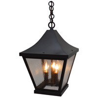 Arroyo Craftsman NAH-10CS-BZ Nantes 3 Light 10 inch Bronze Pendant Ceiling Light in Clear Seedy
