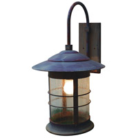 Arroyo Craftsman NB-14CS-RC Newport 1 Light 25 inch Raw Copper Outdoor Wall Mount in Clear Seedy