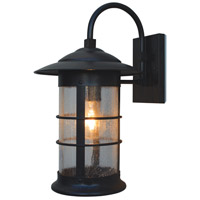 Arroyo Craftsman NB-14LCS-BZ Newport 1 Light 14 inch Bronze Wall Mount Wall Light in Clear Seedy