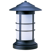 Newport 1 Light 19 inch Satin Black Column Mount in White Opalescent