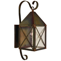 Arroyo Craftsman NOB-6RM-RC Nottingham 1 Light 18 inch Raw Copper Outdoor Wall Mount in Rain Mist