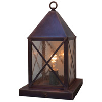 Arroyo Craftsman NOC-6CS-RC Nottingham 1 Light 14 inch Raw Copper Column Mount in Clear Seedy