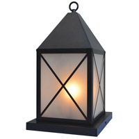 Arroyo Craftsman NOC-8F-BZ Nottingham 1 Light 18 inch Bronze Column Mount in Frosted