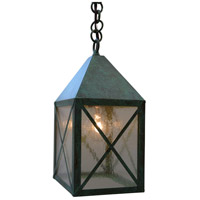 Arroyo Craftsman NOH-6CS-VP Nottingham 1 Light 6 inch Verdigris Patina Pendant Ceiling Light in Clear Seedy