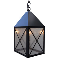 Arroyo Craftsman NOH-8CS-BZ Nottingham 1 Light 8 inch Bronze Pendant Ceiling Light in Clear Seedy