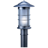 Arroyo Craftsman NP-9LF-S Newport 1 Light 15 inch Slate Post Mount in Frosted